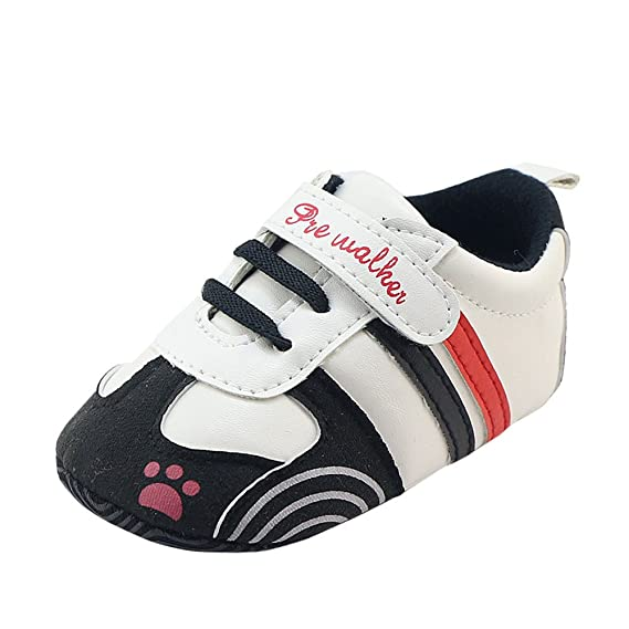 Primeros Pasos Zapatos de Bebé, Zapatillas para Infantil Recién Niñas Niños 0-18 Mes