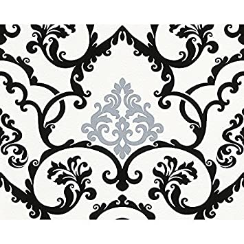 Favorit AS Creation Beflockt Damask Muster Tapete Geprägt Glitzer AS57