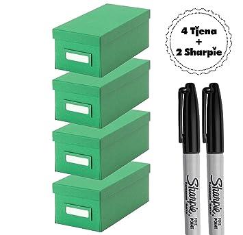 Ikea Tjena Organisation Box Mit Deckel Grün 4 Stück Boxen