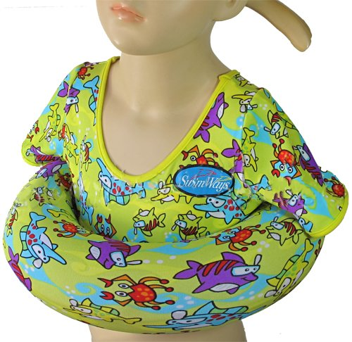 Scuba Choice SwimWays Yellow Cartoon Shark Unisex Kid's Rubber Tube Swim (Air Edge Trainer)