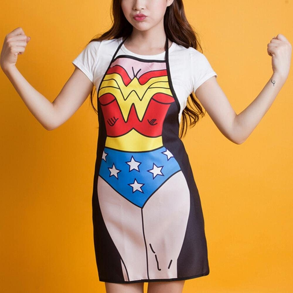 ShopINess - Divertido Delantal Cocina Wonderwoman: Amazon.es: Hogar