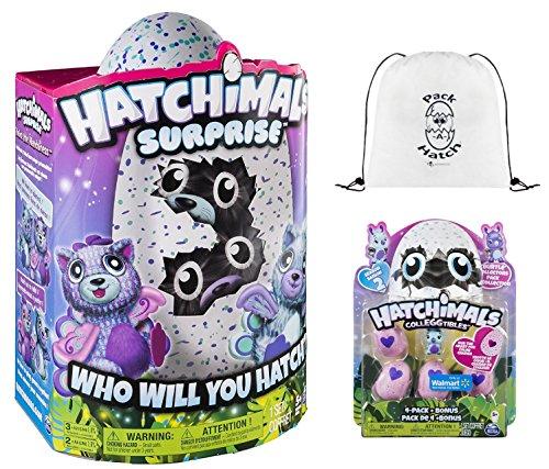 Hatchimals Surprise Peacat   Colleggtibles 4 Pack   Bonus  Season 2    Pack A Hatch Cinch Backpack Combo