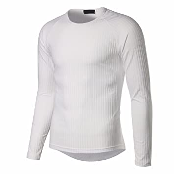 7da5714f Image Unavailable. Image not available for. Color: Mens Tops ! Charberry  Vertical Striped Long-Sleeved T-Shirt ...