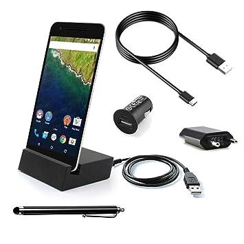 bcshop - Set Kit Accesorios Negro para LG Nexus 5 X Cargador ...