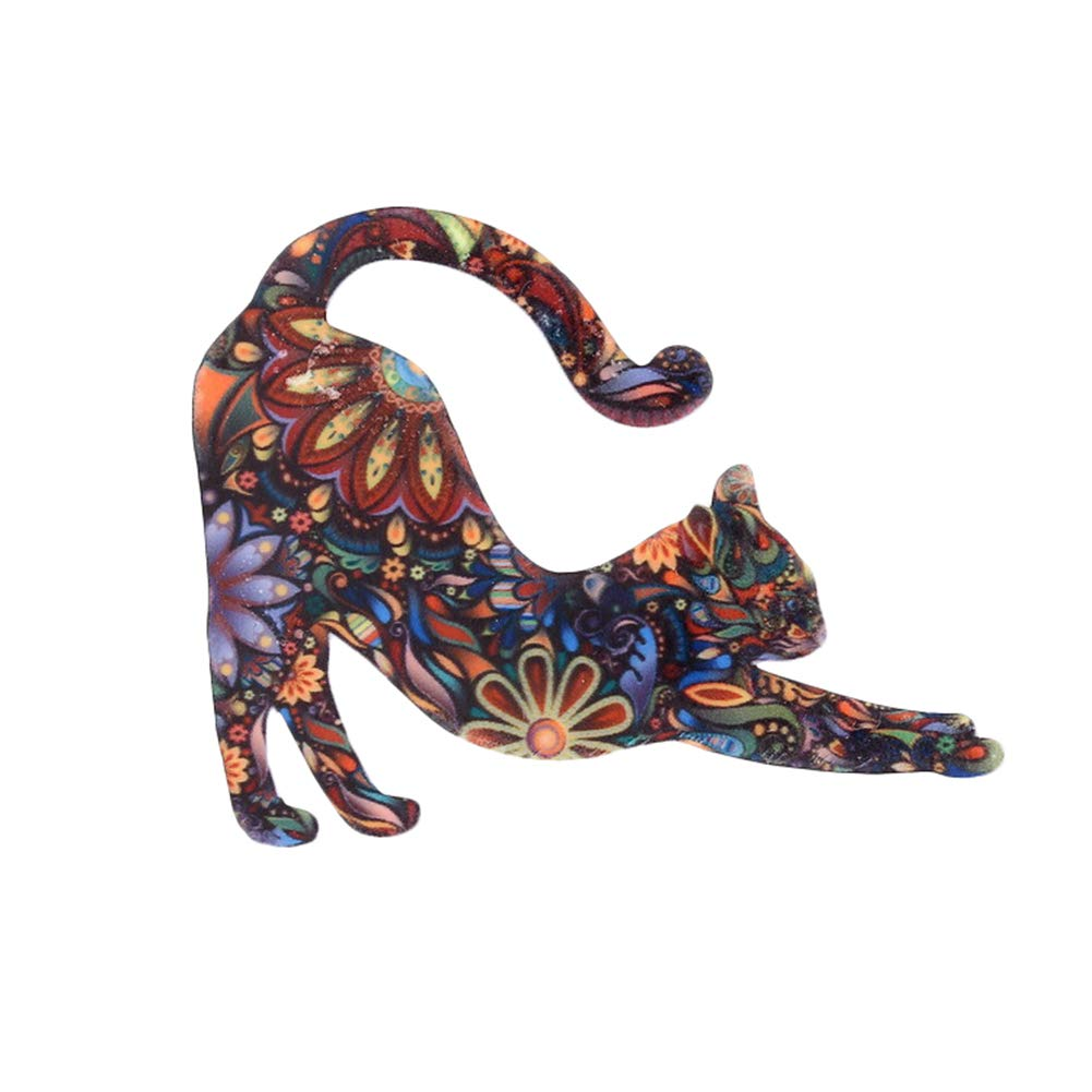 MoGist Unisex Fashion Cute Animal Cat Pattern Brooch Pin Badge Jewelry Costume Accessory for Women or Men