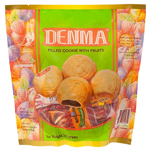 Denma, Filled Cookie with Fruits, net weight 262 g (Pack of 1 ()