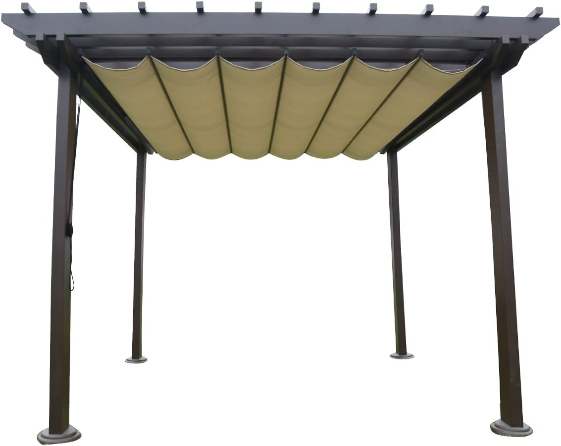 sorara Pergola Marco de aluminio al aire libre Patio Jardín Gazebo ...