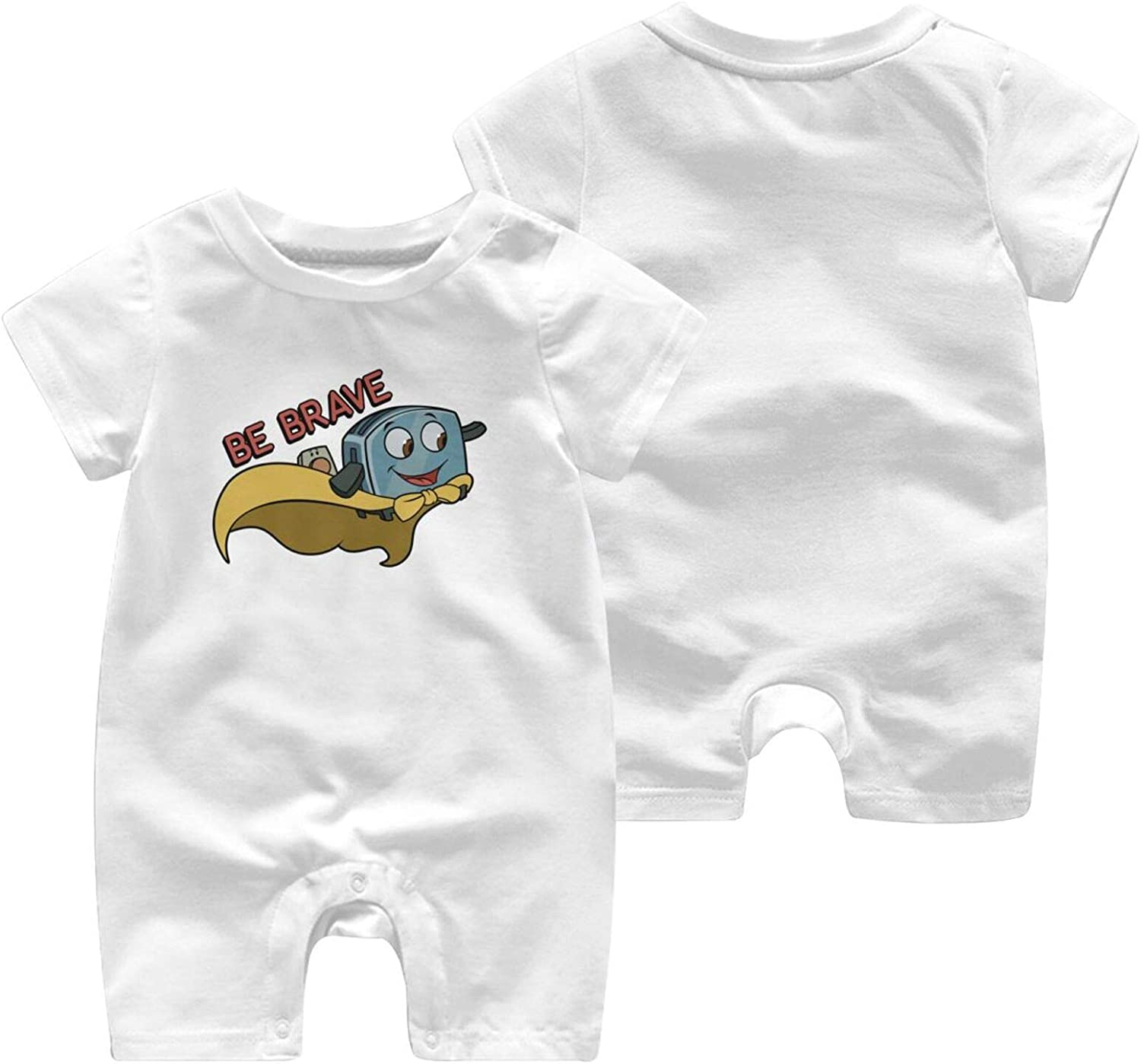 BAIJEN Be Brave Little Toaster Baby Short Sleeve Jumpsuit Comfortable and Fashionable Cotton