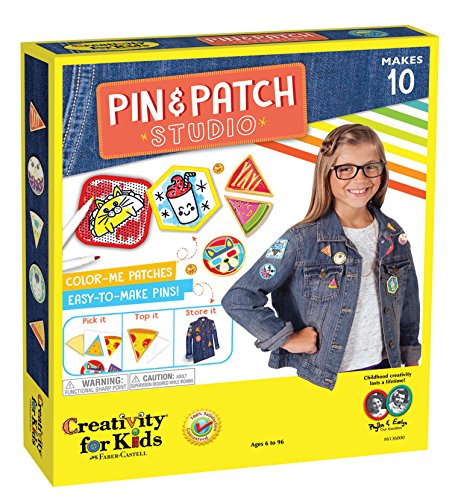 - Creativity for Kids Pin & Patch Studio, Design Your Own Iron-On Patches and Pins Craft Kit