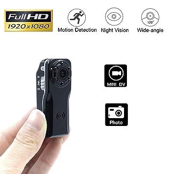 Cámara Espía Oculta, Videocámara Mini DV Grabadora de Video de Bolsillo Visión Nocturna Infrarroja Detección de Movimiento: Amazon.es: Electrónica
