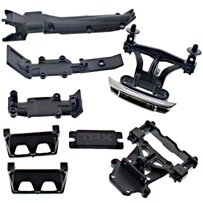 Traxxas 1/16 E-Revo FRONT & REAR BODY MOUNTS, BUMPERS, SKID PLATES & POSTS: Toys & Games