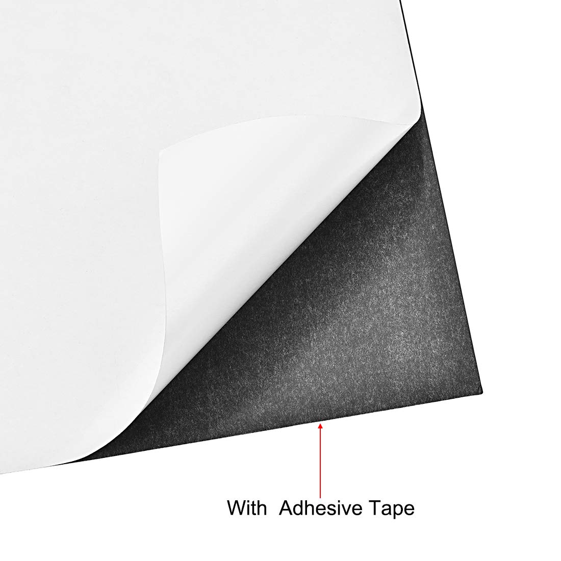sourcing map A3 Plain Magnet Sheets with Adhesive for Crafts or Applying Light Weight Items 15 Mil Black 2pcs