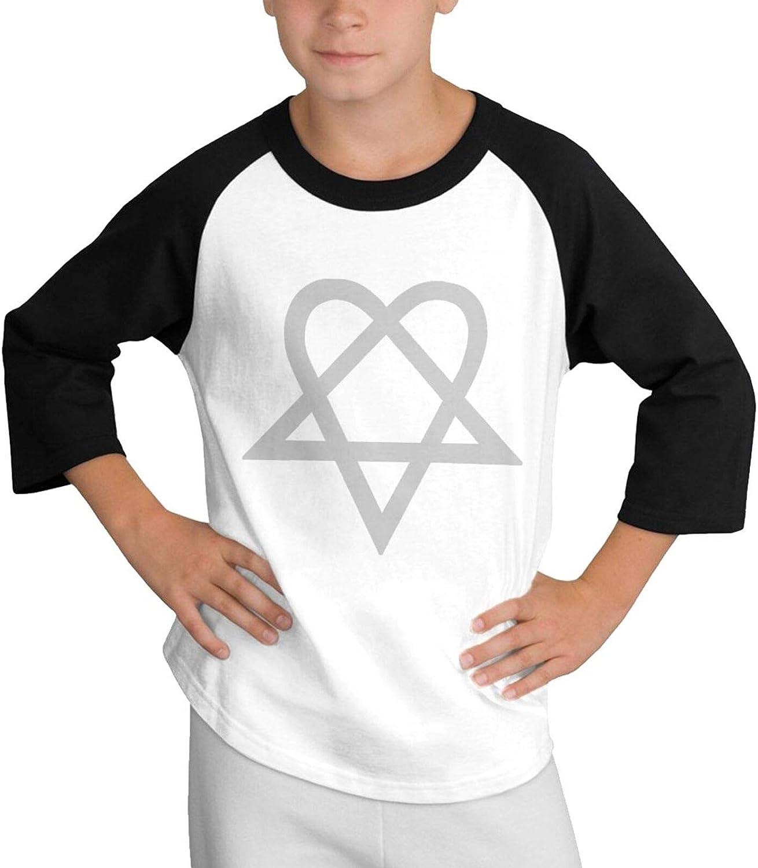 XKAWPC Heartagram Teen T-Shirt Tee Shirt Soft Cotton Short Sleeve
