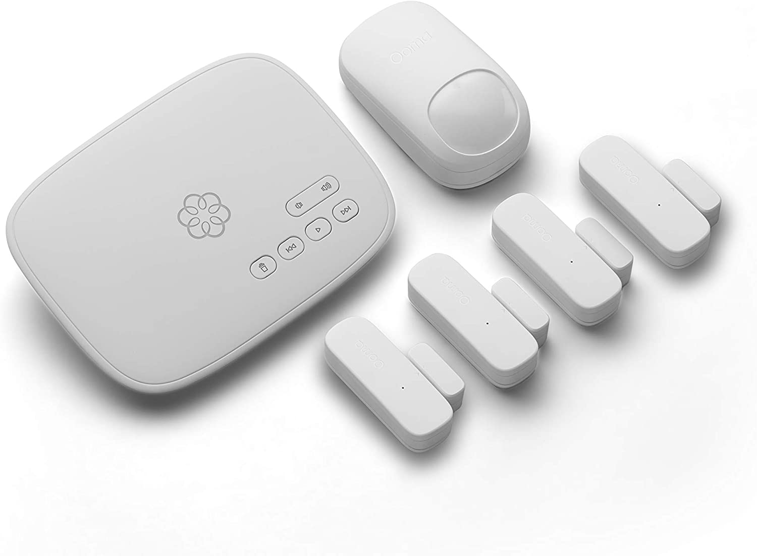 Ooma Smart Home Security with motion and door/window sensors. No contracts and free self-monitor plan. Optional professional monitoring, keypad, water sensor, and garage door sensor. Works with Alexa.