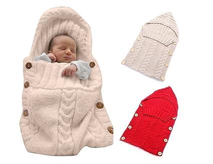 DROVE - Manta para recién nacido, tipo saco de dormir, lana, Beige ...