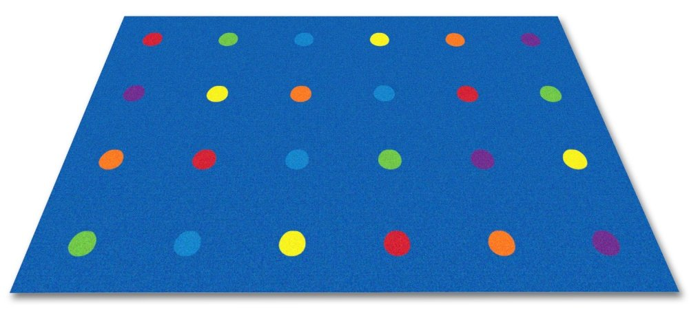 Kid Carpet FE815-22A On The Spot Classroom Seating Nylon Area Rug, 4' x 6', Multicolored