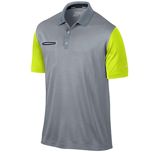 44811b14 Nike Lightweight Innovation Color Polo LT MAGNET GREY/VOLT/METALLIC SILVER  XL