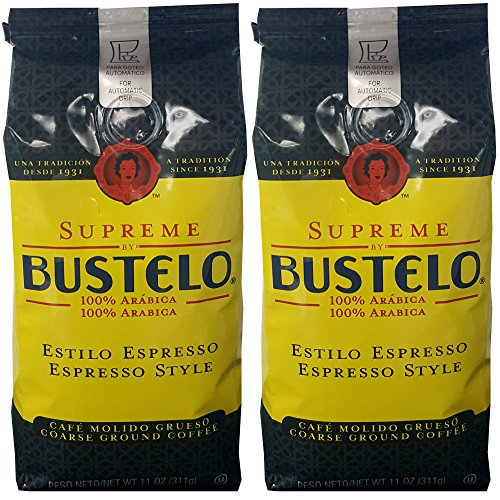 Amazon.com: Supreme by Bustelo Espresso Style Ground Coffee 11 oz (2 Pack) : Beauty