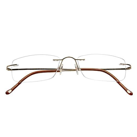 2cd5e4bc78 Gafas de lectura LianSan de titanio sin montura para hombres y mujeres  ligeras y a la moda 8085: Amazon.es: Salud y cuidado personal