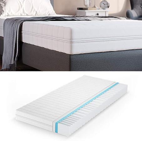 vidaXL Matratze 7 Zonen PU Schaum 16cm H2 H3 Bett Unterbett mehrere Auswahl