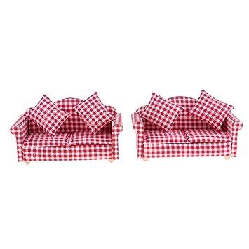 Amazon.es: Premium Sofás en Miniatura para Casa de Muñeca ...