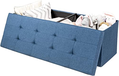 Giantex Storage Ottoman Folding Footrest 43.5 Inch