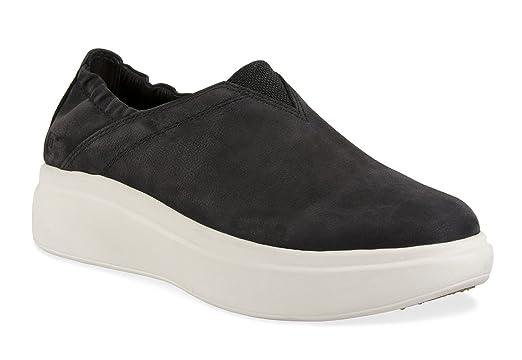 360f6cd7415 Amazon.com  Tsubo Womens Arata Slip On Wedge Flat Platform Black Shoes   Clothing