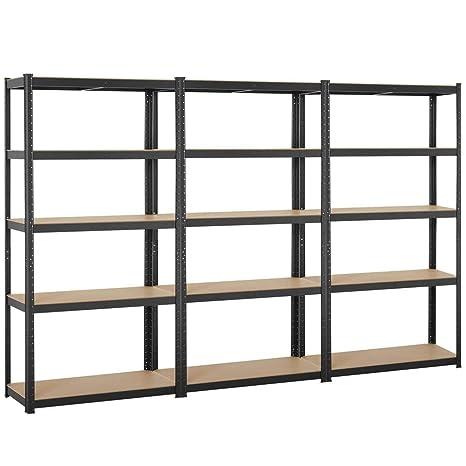 Amazon.com: Yaheetech - Estantería de acero con 5 estantes ...