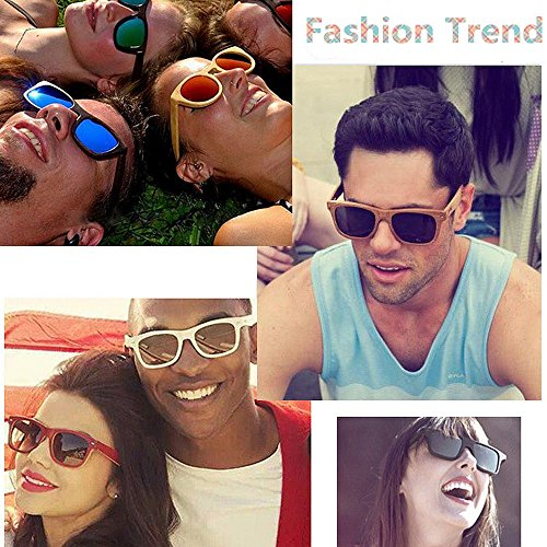 Rimmed Bois Style Couleur Rouge brown Soleil Gu Lunettes Coloré des Peggy Green Shades Couleur pour de Handcraft de UV400 Unisexe Protection Protection Adulte rétro en Yeux Fashion lentille wzIWSq0