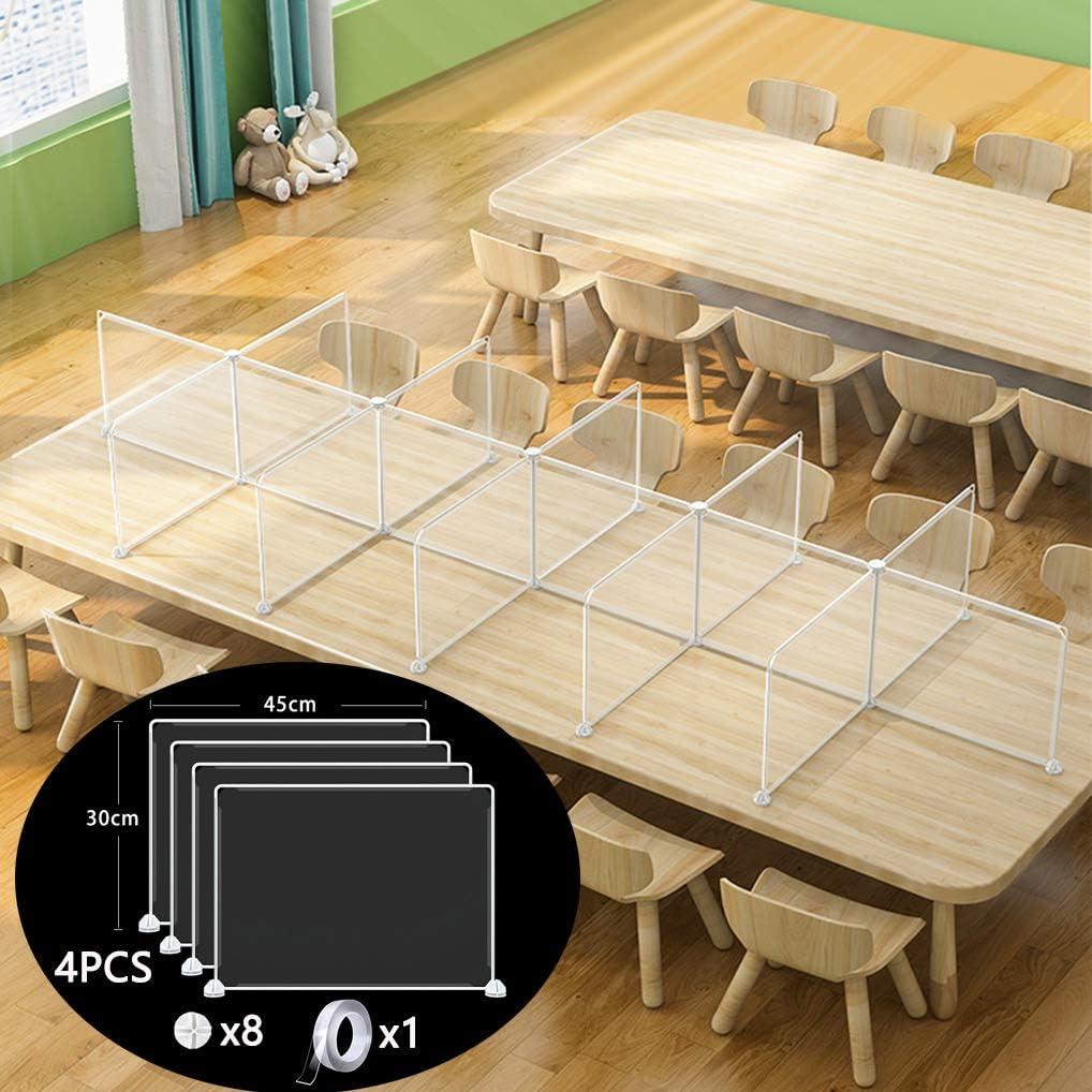 Transparent Desks Partitions Lightweight Desk Dividers for Students, Suitable for Schools Easy to Install(11.8x17.7) Desktop Office Partitions 3PCS Restaurants Offices