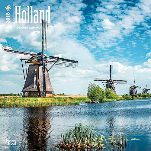 Holland 2018 12 X 12 Inch Monthly Square Wall Calendar  Scenic Travel Europe Netherlands Amsterdam