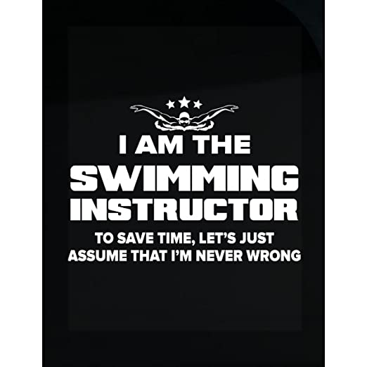 Amazon com funny gift for swimming instructors never wrong sticker home kitchen