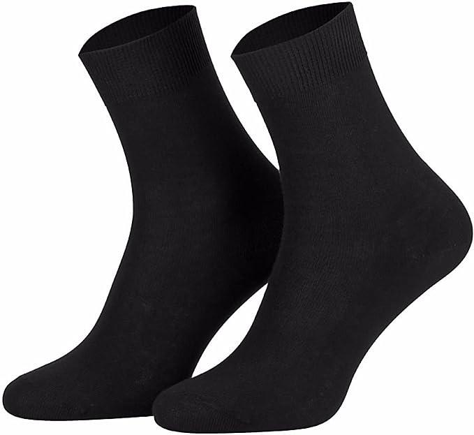 Star Socks Germany 10 pares de calcetines para mujer Negra 100% algodón: Amazon.es: Ropa y accesorios