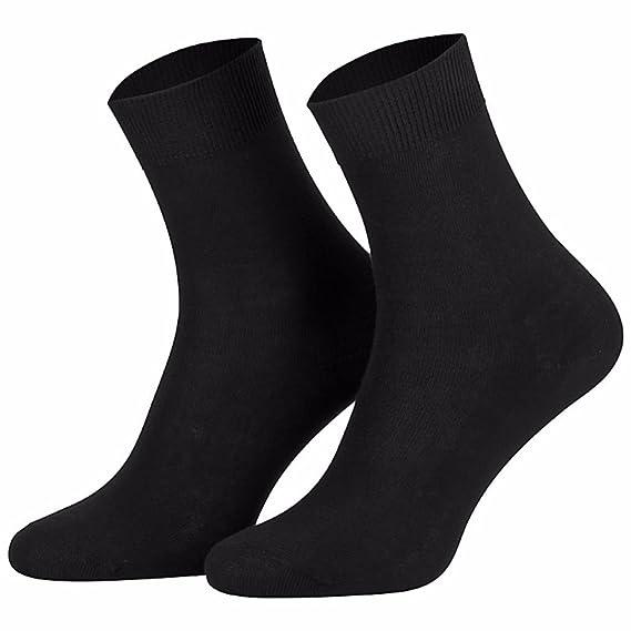 Chaussettes 100% coton pour homme (lot de 10 paires) Noir: Amazon.fr:  Vêtements et accessoires