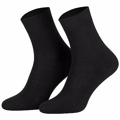 122b61baae2e6 Chaussettes 100% coton pour homme (lot de 10 paires) Noir: Amazon.fr:  Vêtements et accessoires