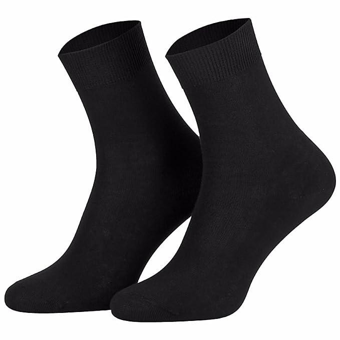 Star Socks Germany 10 Paar schwarze Damen Socken 100% Baumwolle