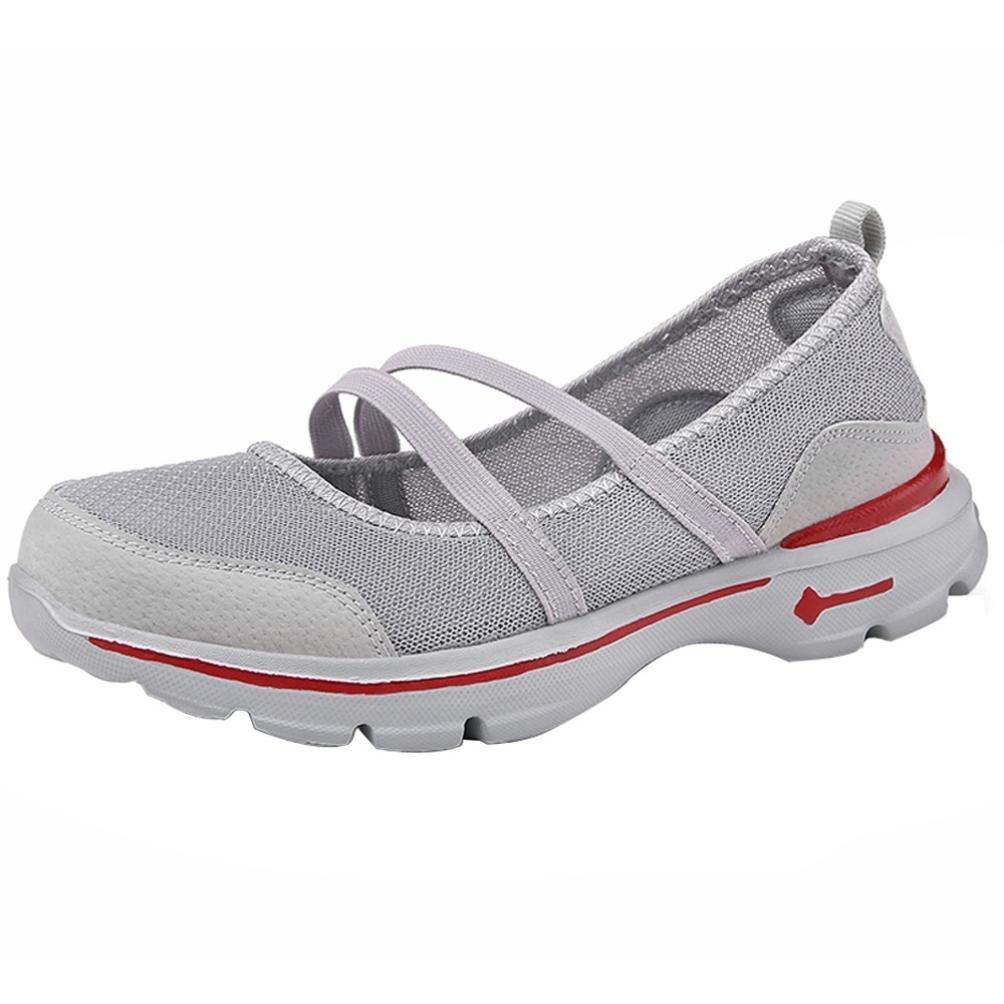 Calzado de Running para Mujer, Logobeing Zapatos Planos de Mujer Zapatos de Malla Zapatos Transpirables Zapatillas de Deporte Casuales Sneakers
