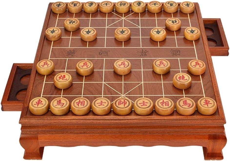 Style wei Juego de ajedrez Chino Marco de Madera Maciza de ajedrez Piezas de Madera Tablero de Madera del hogar Grande: Amazon.es: Juguetes y juegos