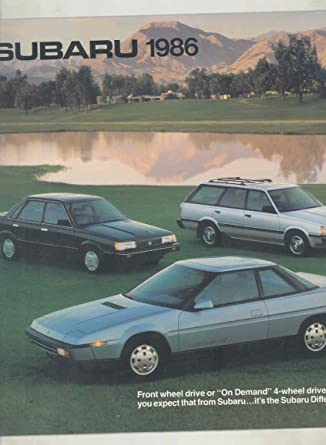 1986 Subaru XT Coupe Turbo FWD 4WD Wagon Sedan Hatchback Large Brochure