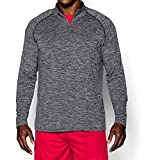 Under Armour Men's Tech ¼ Zip, Black /Graphite, Large