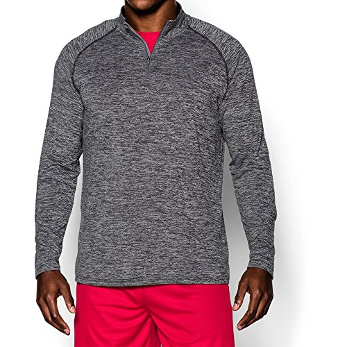 Under Armour Men's Tech ¼ Zip, Black /Graphite, Medium