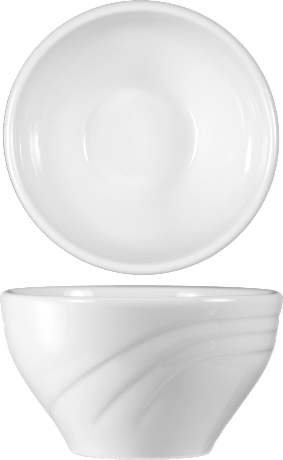 ITI AM-4 AMSTERDAM Embossed Pattern 36-Piece Bouillon Cup, 7-Ounce, White