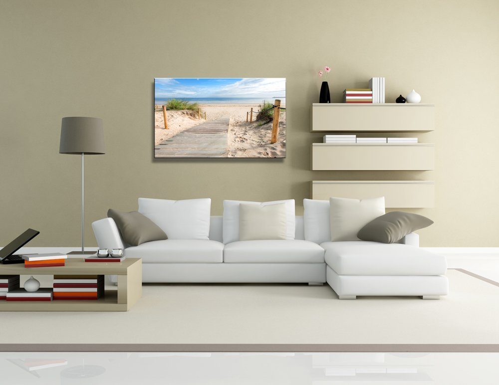 yixuanwall art canvas Prints,Beach scenery Wall Art oil Paintings Printed Pictures Stretched for Home Decoration hs0012