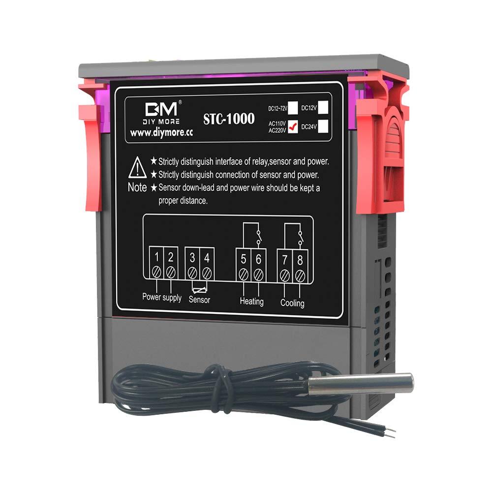 stc 1000 digital all purpose temperature controller thermostat rh amazon com