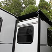 Amazon Com Lippert Rv Solera Awning 6 5 Slider Black