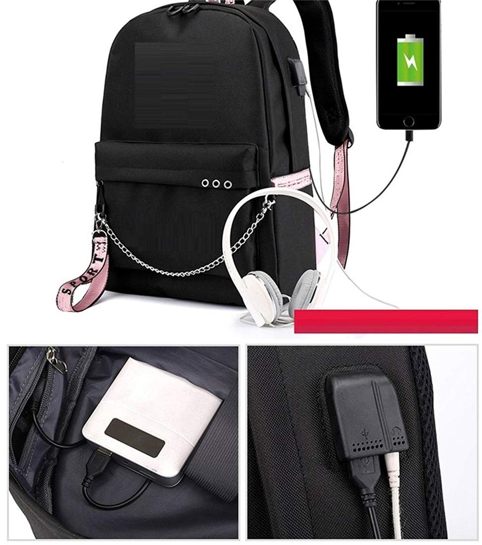 Amazon.com: Yeying123 Kpop BTS Bangtan Boys Backpack Daypack Laptop Bag College Bag High Capacity School Bag Bookbag with USB Charging Port: Sports & ...