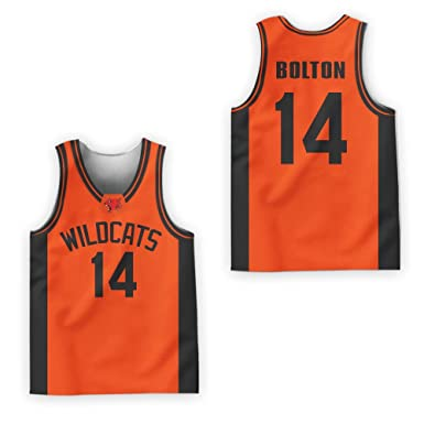 Zac E Troy Bolton 14 East High School Wildcats Patch Basketball Jersey  Tanks Stitch (30 3a36b493e