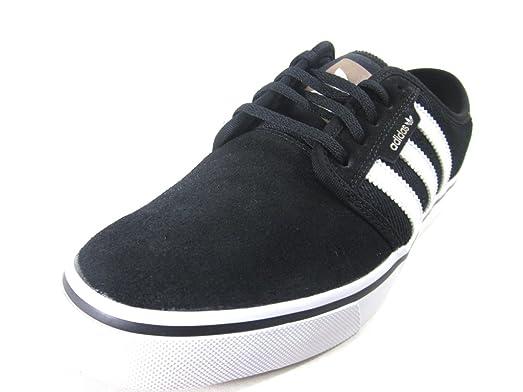 Adidas Mens Seeley Skate ShoeBlack/Black/Black8 M US