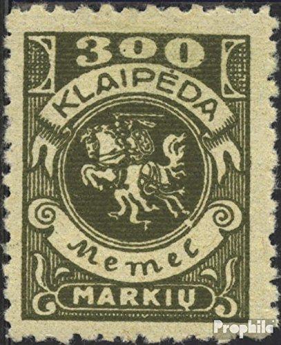 Prophila Collection Memelgebiet 147 geprüft 1923 Wappenreiter (Briefmarken für Sammler)