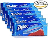 ziploc large freezer - Ziploc Easy Open Tabs Large Freezer Bags, Double Zipper (168-Count)